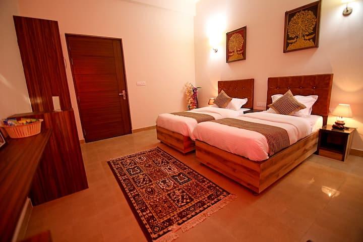 Twin Beds, Top rated Boutique B&B Agra near Taj
