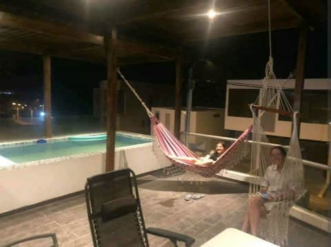 Campo, Playa y Piscina - Suite de Invitados