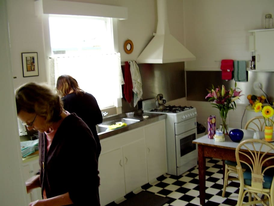 Full equipped shared kitchen - cook up the local produce sourced from markets