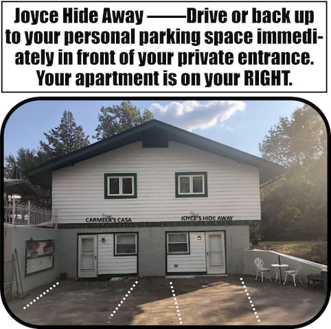 Private and Personal Parking Directly in Front of your Apartment!