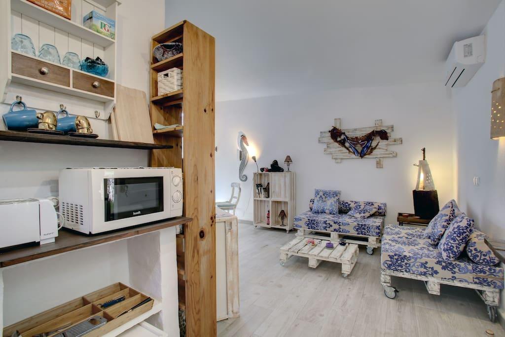 kitchen open to the livingarea