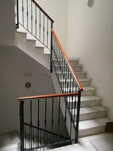 Escaleras de marmol.