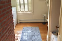 Entry to bathroom and laundry