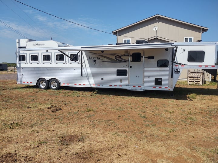 Luxury Horse Trailer on a Horse Ranch