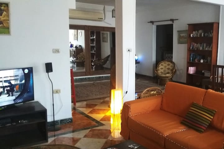 A spacious, full of natural light room in Zamalek