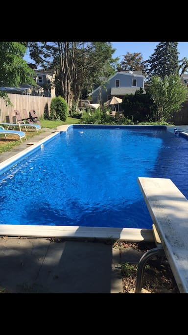 20X40 pool (during summer months)