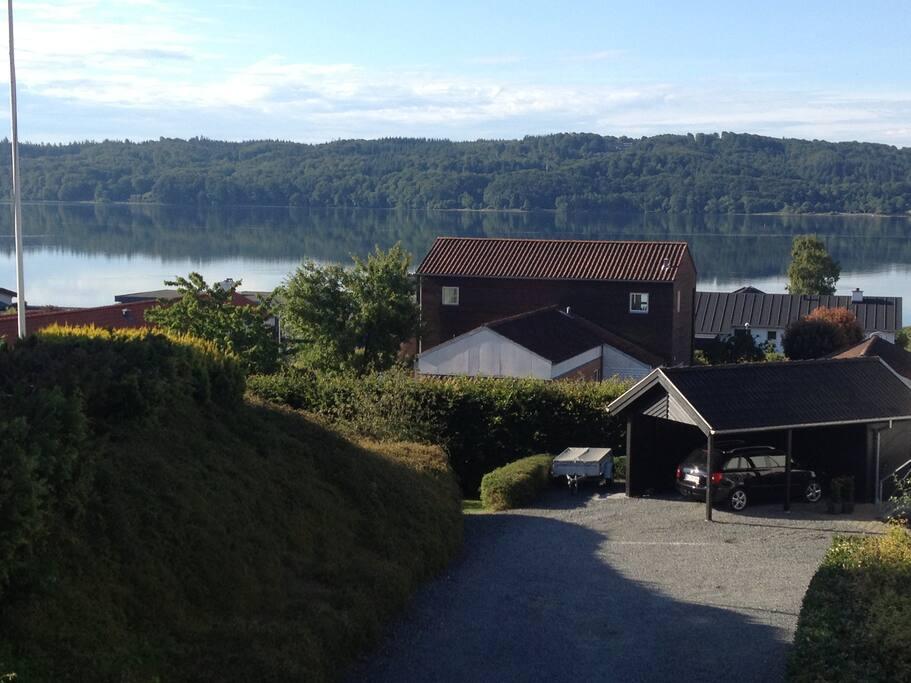 View over Vejle fjord (100m)