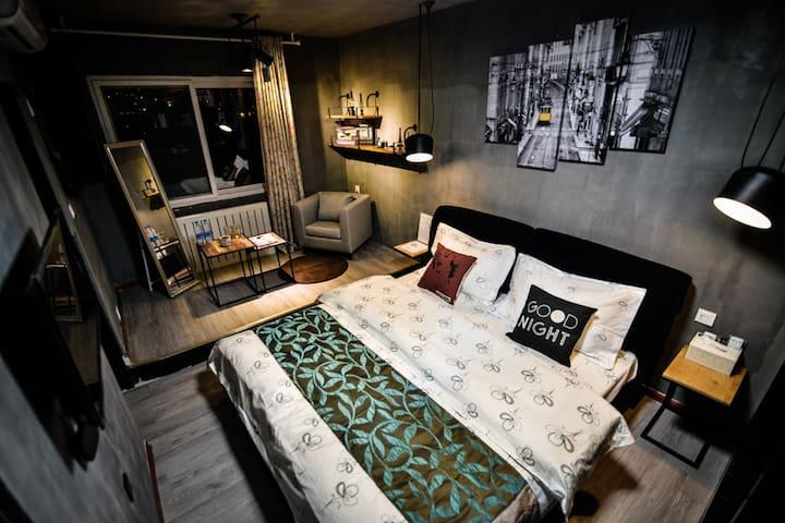 兰州橙子酒店式公寓LOFT工业风大床房 - Lanzhou - Appartement