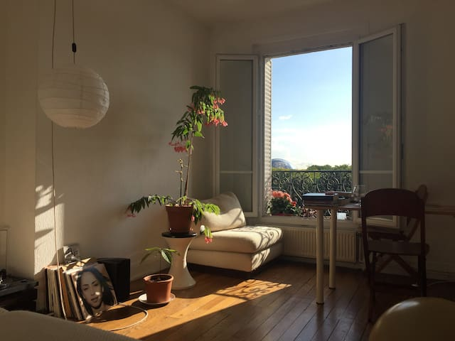 Charming flat with view on the canal de l'Ourcq