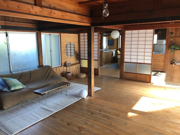 A rustic Japanese style house near the Ocean