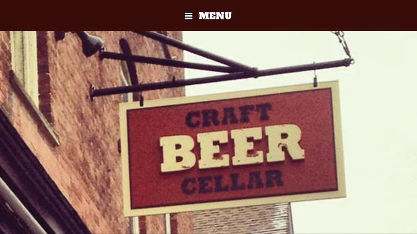 Just 2 small blocks away, approximately a 3-5 minute walk, across from the Prohibition Pig.