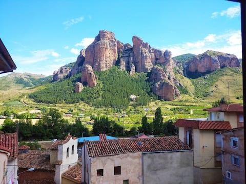Casa rural con incríveis vistas em Islallana