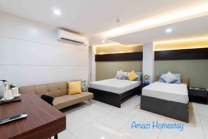 Amazi Homestay-Dumaguete+FamilyRM+27mbps+Near Mall