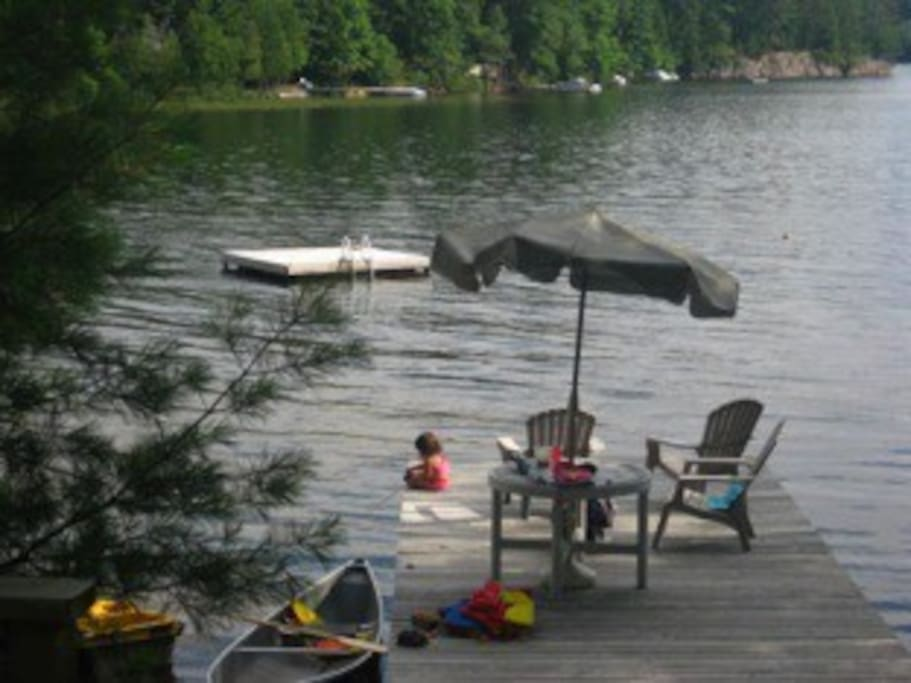 Lake view from back deck