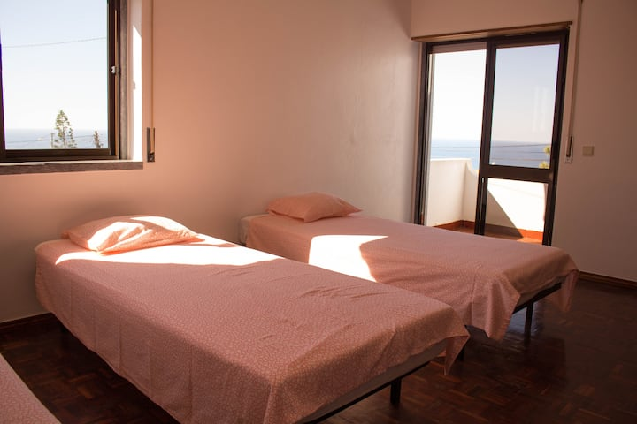 4 Person Room ocean view & Balcony @ LO Surfcamp