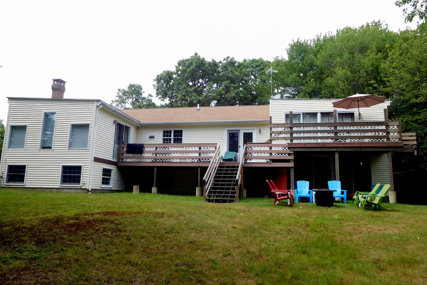 Rear Elevation Decks and Fire Pit
