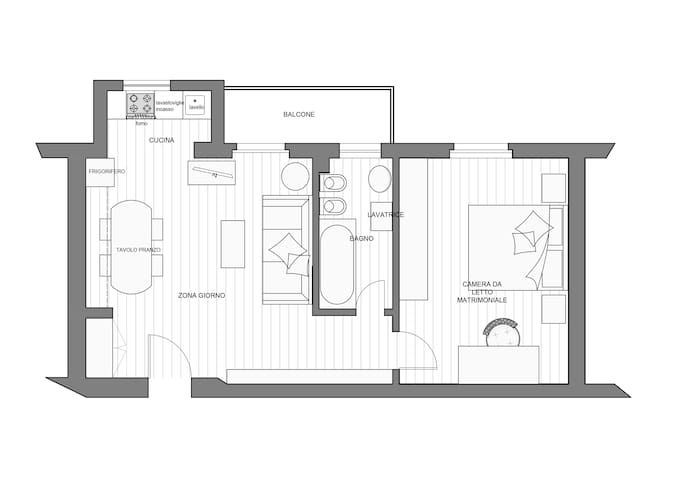 Plan of the appartment.