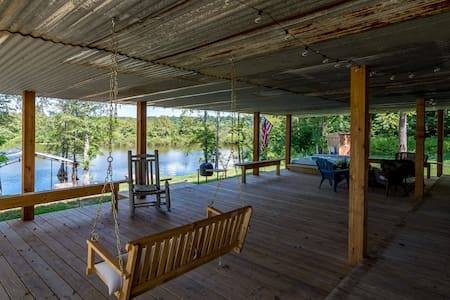 Our Back Porch on Toledo Bend - Logansport - Mökki
