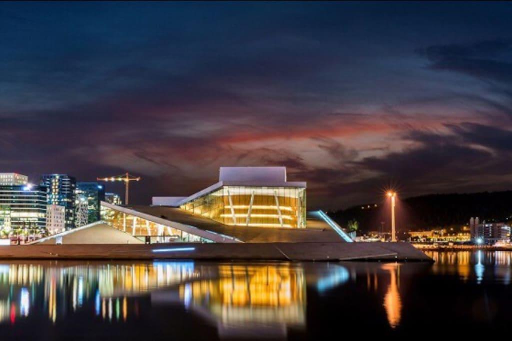 Oslo operahus - 5 minutter gangavstand