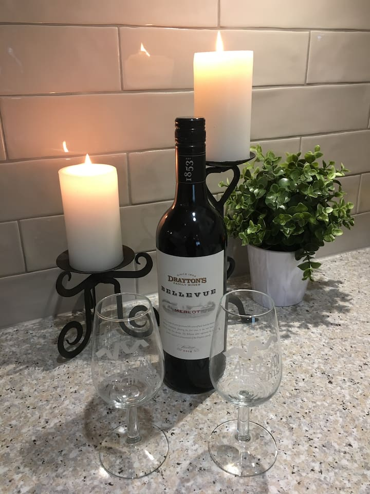 Relax with a complimentary bottle of wine