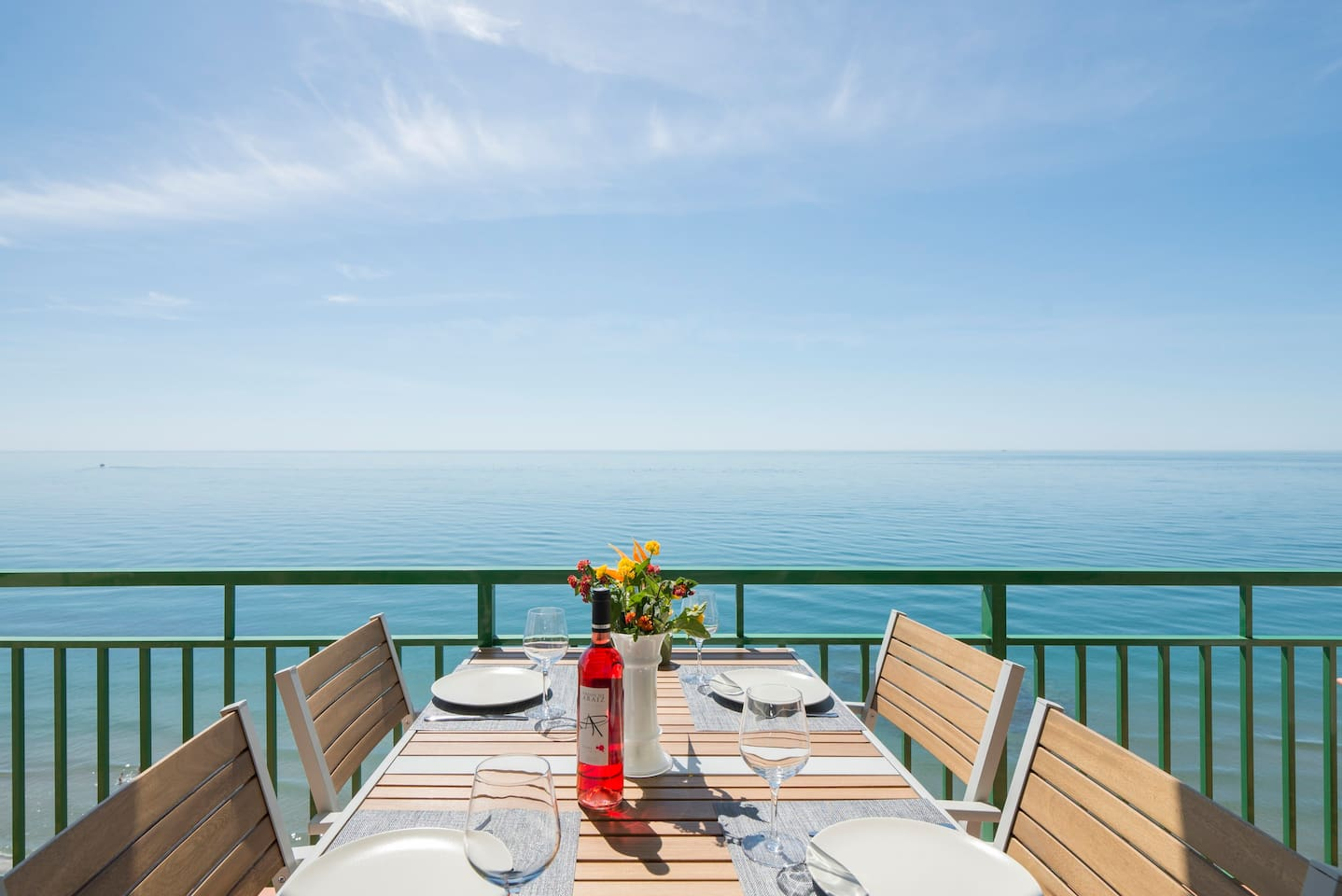 Dine in style on the spacious terrace