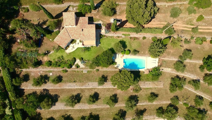 A French villa in the middle of an olive grove