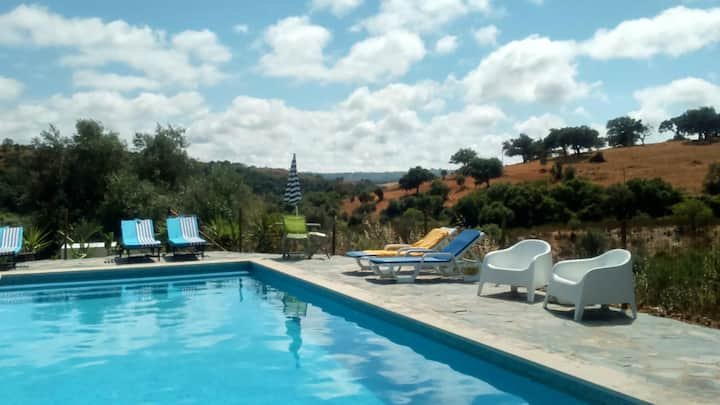 House with 2 bedrooms in Odemira, with wonderful mountain view and furnished garden - 15 km from the beach
