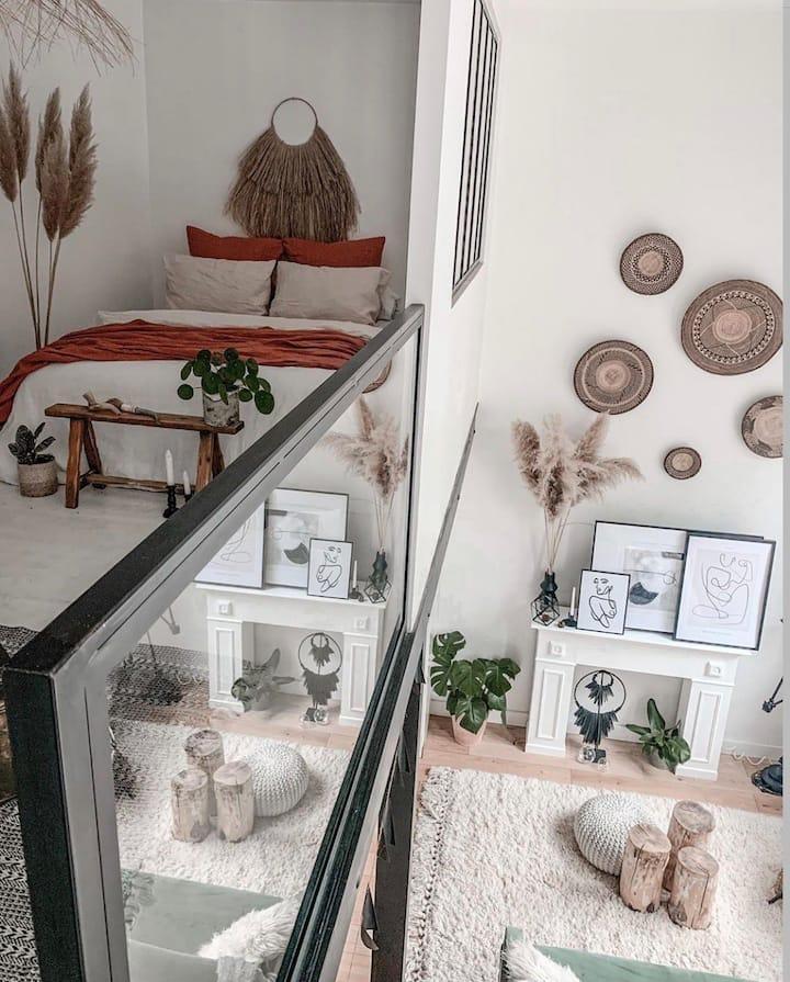 Superbe loft à la décoration soignée et cocooning