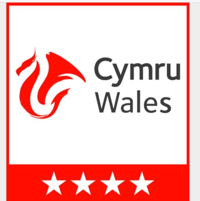 Visit Wales 4 star accreditation.