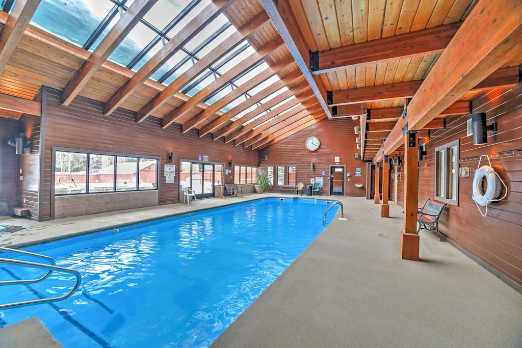 The indoor pool is open all year!