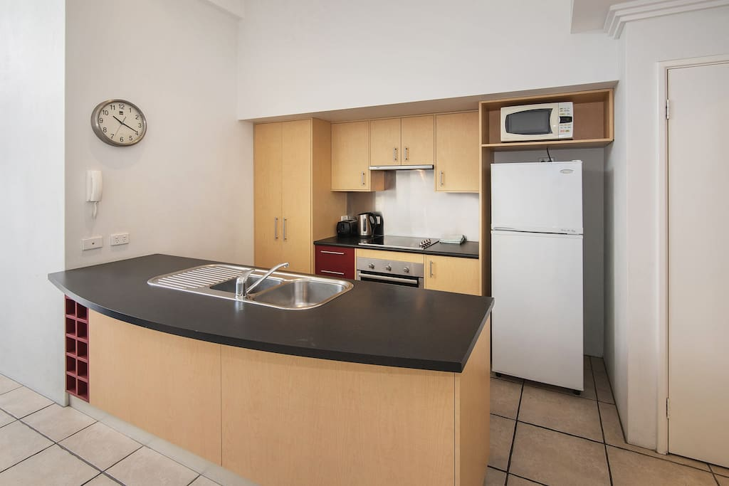 The Apartment has a fully equipped kitchen.