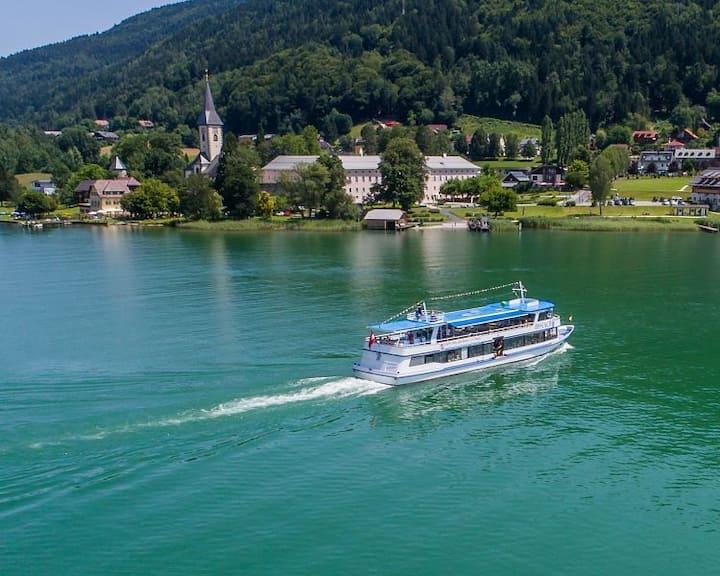 Maisonette für 8 Personen direkt am Ossiacher See
