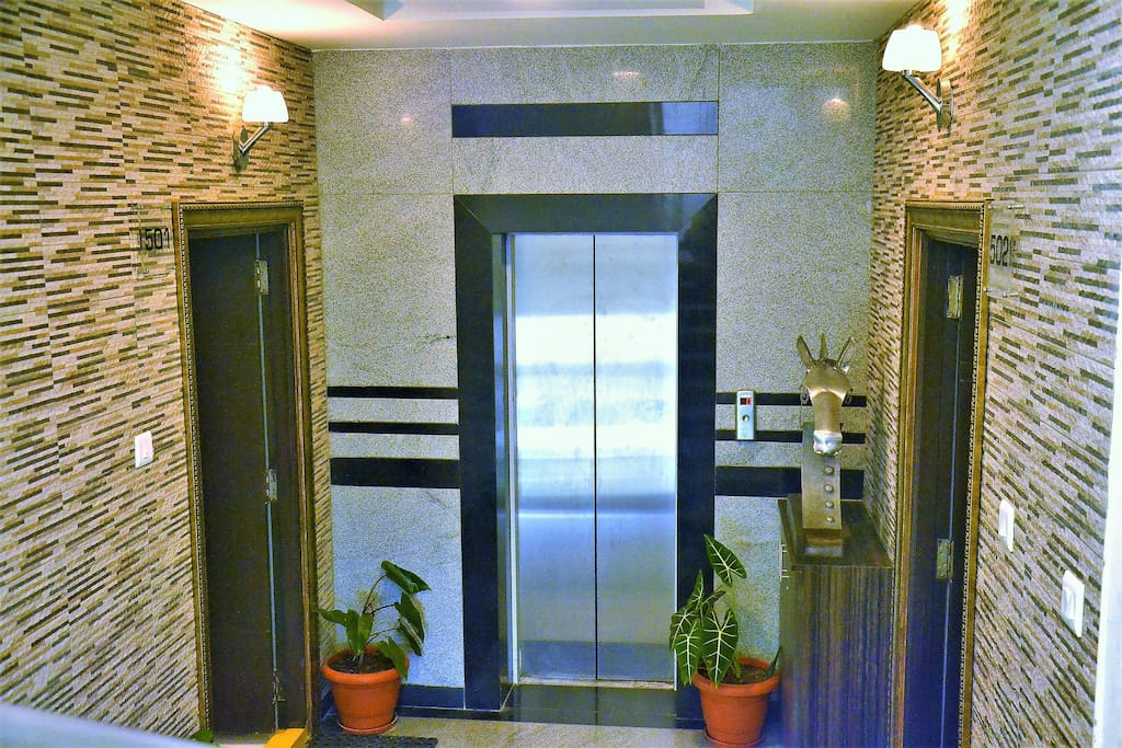 Lift Lobby to 501 Flora Vihaan. The Hosts live in 502.(opposite) and are easily accessible for any help.