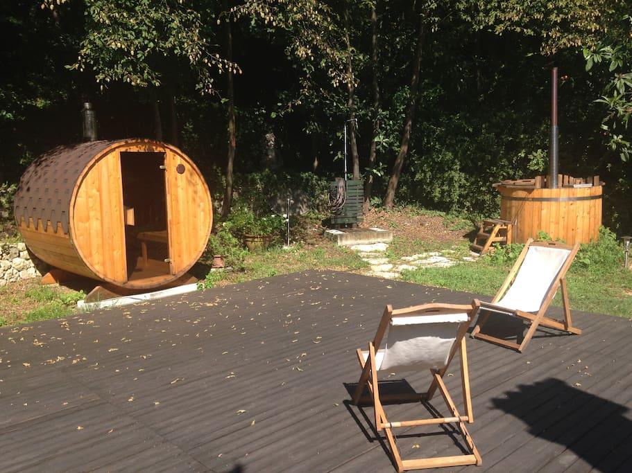SPA esterna con Sauna e Hot tub