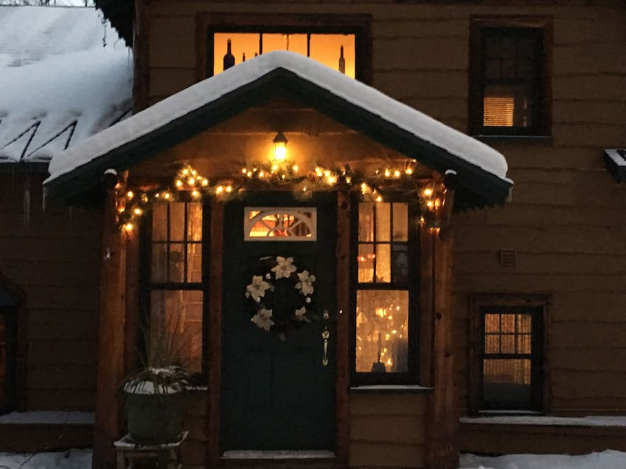 Front of Home during the holidays