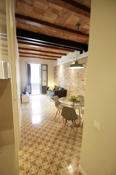 Living and Dining Area: Photo taken from kitchen