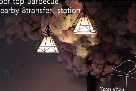 5#Roof top BBQ  private room 4min transfer station