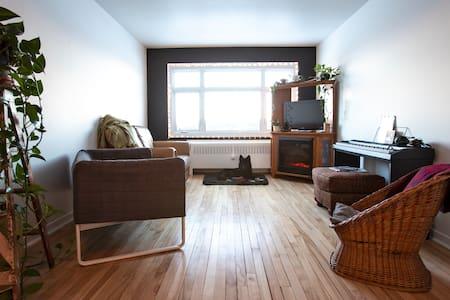 Chaleureux appartement à proximité de la baie