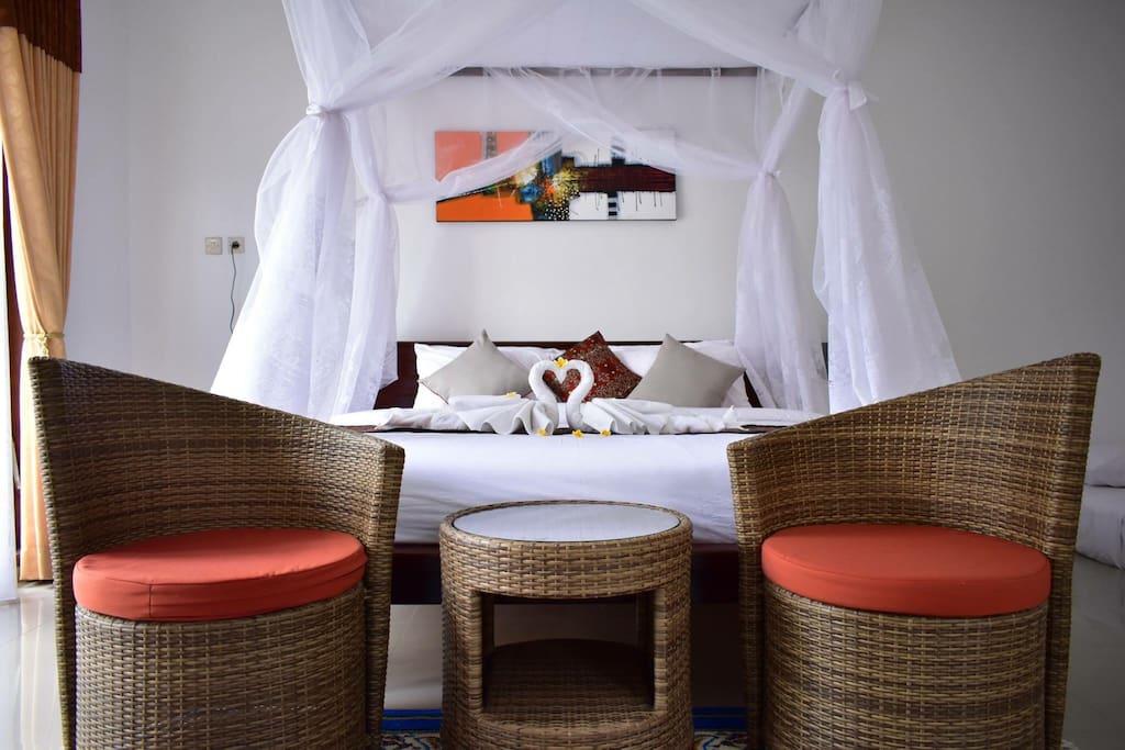 single bed room at barari villas