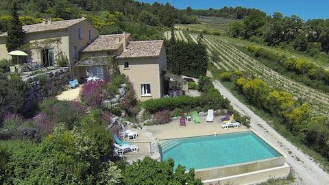 Rural gîte 2 bedrooms (75 m2) - calm, pool, view