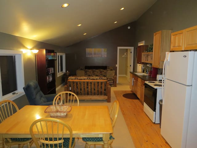 Open floor plan allows for relaxing, reading or cooking a delicious meal.
