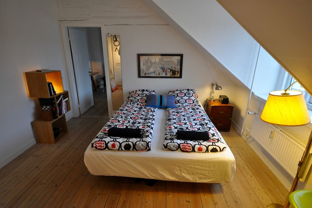 Bedroom with 160 cm big double bed