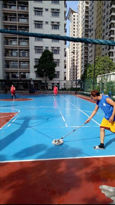 Basketball court at sane floor and near our unit