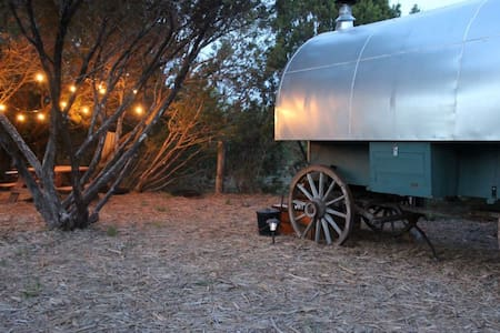 Rustic Sheepwagon (Gary) on a working Texas Ranch