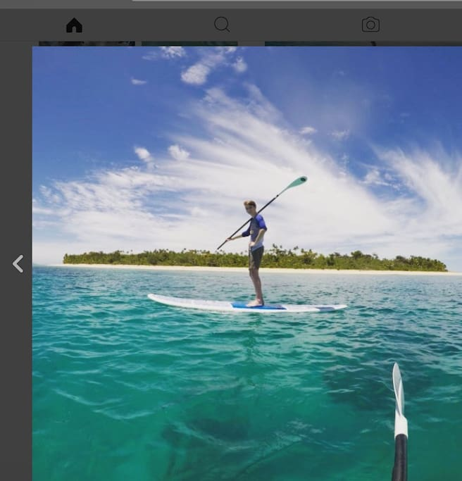 Free SUP and snorkelling gear