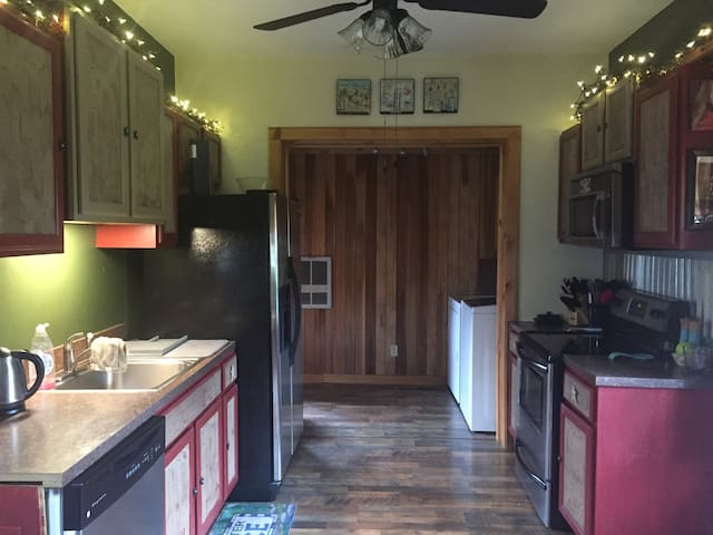 kitchen with attached laundry room