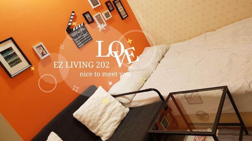 EZ LIVING 202 超值房台北車站、中山商圈、寧夏夜市,獨立衛浴, 3mins to MRT
