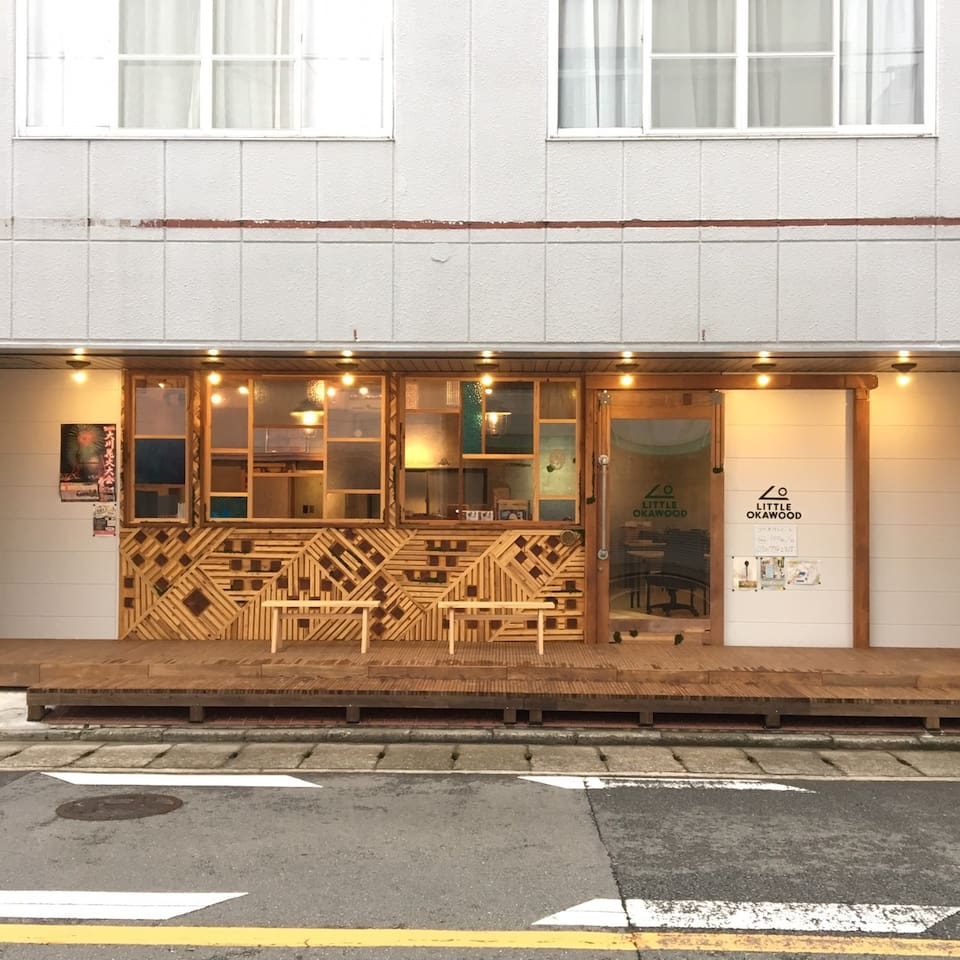 1Fはco-working space。