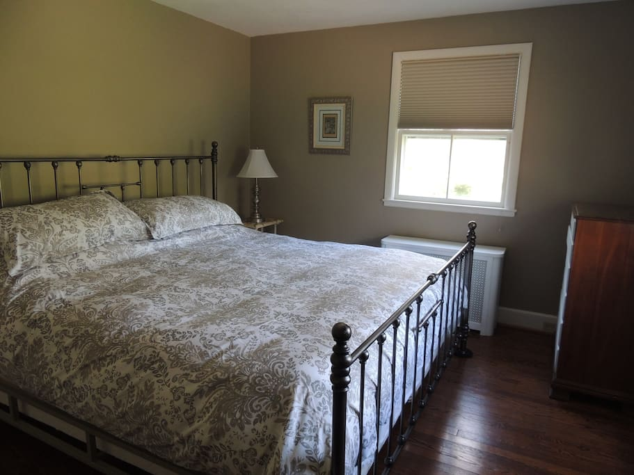 Bedroom #1 with king sized bed