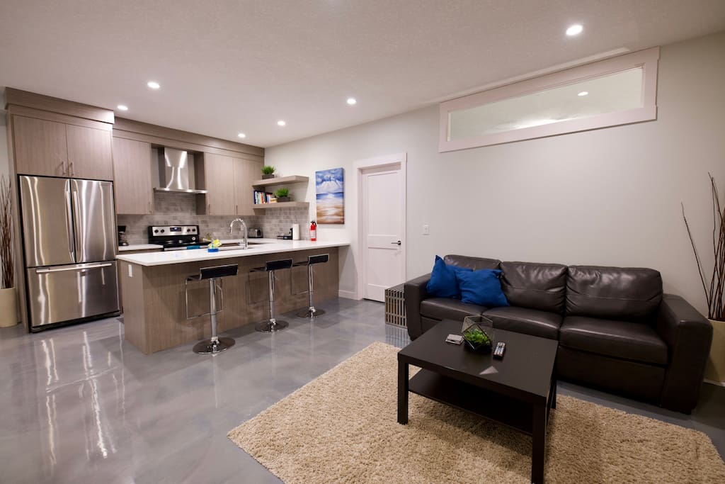 Spacious Living Room & Kitchen Area